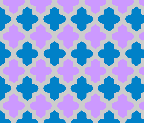 Customed Moroccan Quatrefoil fabric by pearl&phire on Spoonflower - custom fabric