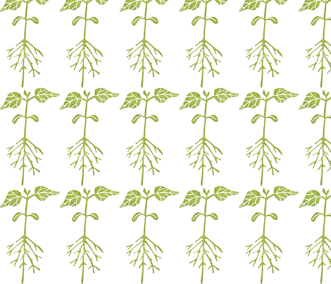 Lil' Sprout fabric by theupstartstudio on Spoonflower - custom fabric