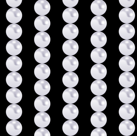 Pearl Chain in black fabric by pearl&phire on Spoonflower - custom fabric