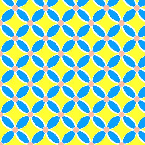 Neon Blue Petals fabric by fridabarlow on Spoonflower - custom fabric