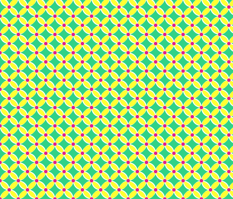 Neon Bright Yellow Petals fabric by pearl&phire on Spoonflower - custom fabric
