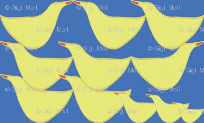 Happy ducks_cobalt blue