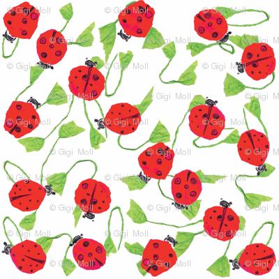 Ladybug smile _white