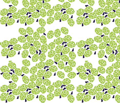 Turtle shells white  fabric by gigimoll on Spoonflower - custom fabric