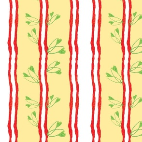 Collage leaf stripe_peach