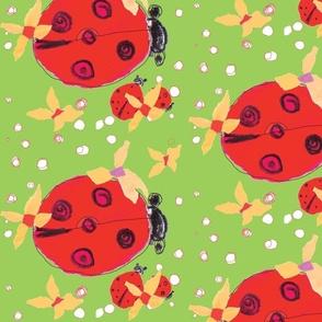 Ladybug love green