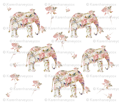doll house collection, Elephant shabby chic