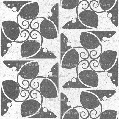 Weathered Rats (gray on white)