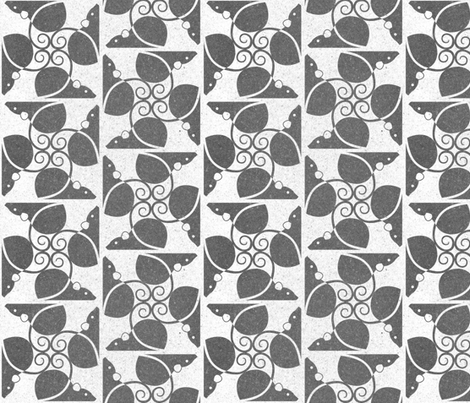 Weathered Rats (gray on white) fabric by meduzy on Spoonflower - custom fabric