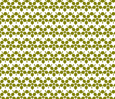 Starflower Moss Reverse fabric by courtandspark on Spoonflower - custom fabric