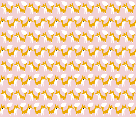 lpalepinkfox fabric by raehoekstra on Spoonflower - custom fabric