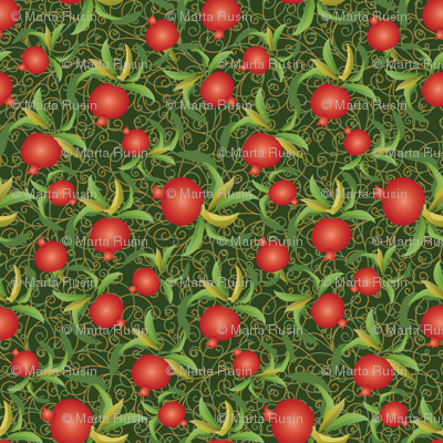 abundant pomegranate