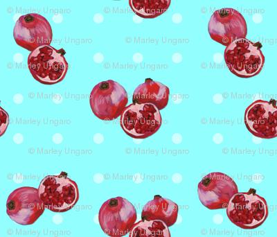 Marley's acrylic pomegranates