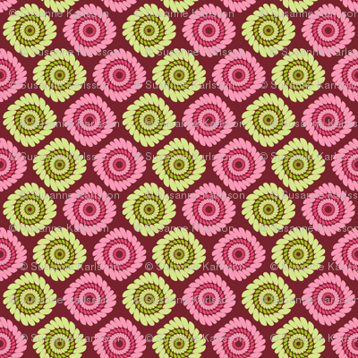 pink and green abstract