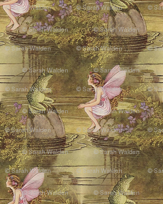 Fairy and Frog ~Ida Rentoul Outhwaite