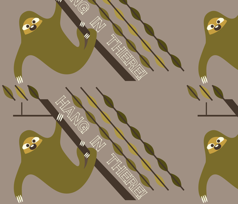 sloth fabric by junej on Spoonflower - custom fabric