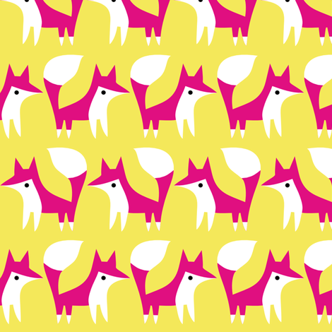 brightpinkfoxox fabric by raehoekstra on Spoonflower - custom fabric