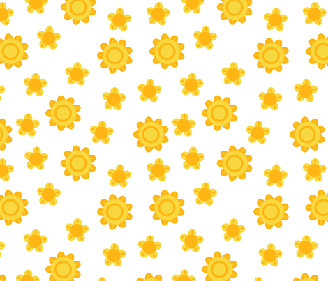 sun flowers fabric by suziedesign on Spoonflower - custom fabric