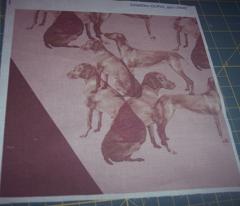 Vizsla stencil fabric