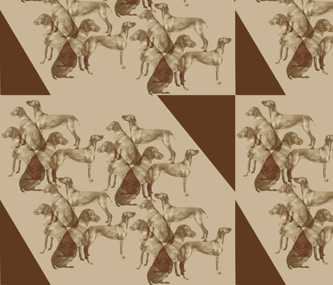 Vizsla stencil fabric fabric by dogdaze_ on Spoonflower - custom fabric