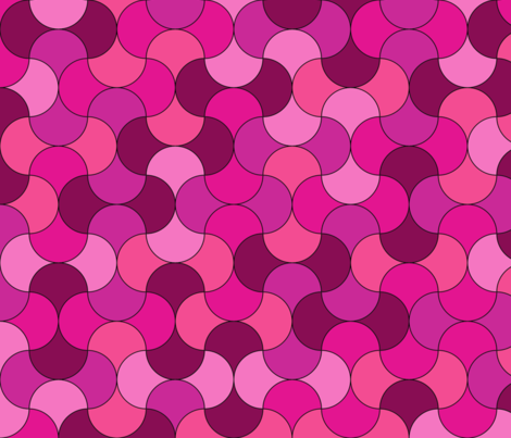 pretty pink fabric by suziedesign on Spoonflower - custom fabric