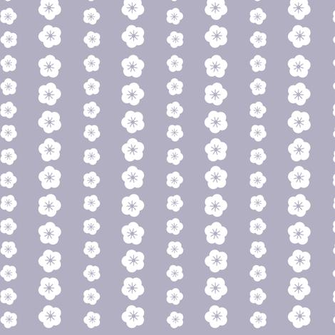 Purple Blossom Stripe fabric by shelleymade on Spoonflower - custom fabric