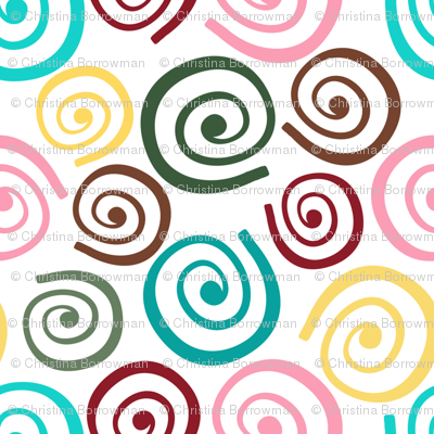 Cupcakes and Swirls Collection - Multi-Colored Swirls by JoyfulRose