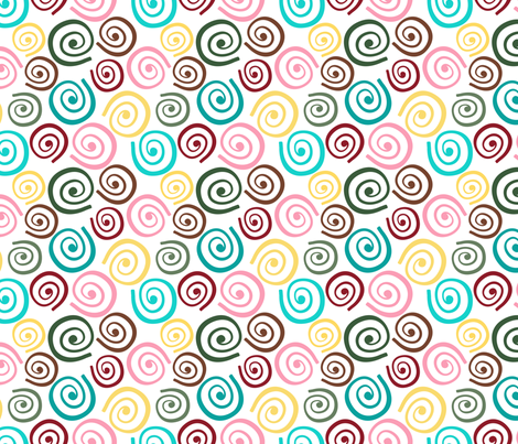 Cupcakes and Swirls Collection - Multi-Colored Swirls by JoyfulRose fabric by joyfulrose on Spoonflower - custom fabric
