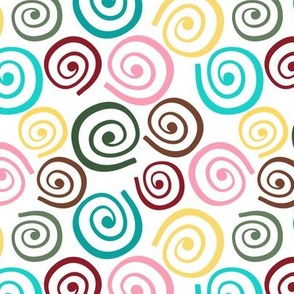 Cupcakes and Swirls Collection - Multi-Colored Swirls by JoyfulRose