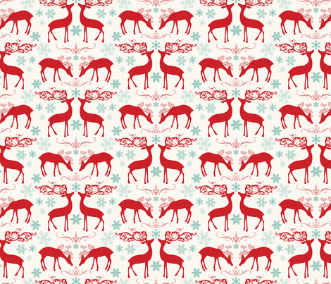 Holiday Reindeer fabric by allisonkreftdesigns on Spoonflower - custom fabric