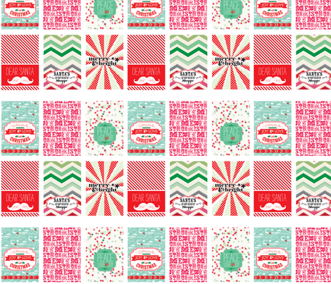 Christmas Sentiments fabric by allisonkreftdesigns on Spoonflower - custom fabric