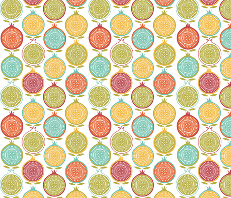 pomegranate_party fabric by cherished_dreams on Spoonflower - custom fabric