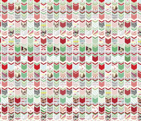 Chevron Herringbone Christmas fabric by allisonkreftdesigns on Spoonflower - custom fabric