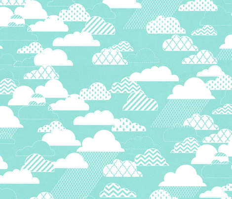Patterned Clouds fabric by allisonkreftdesigns on Spoonflower - custom fabric