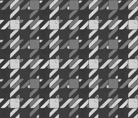 Weathered Bunny Houndstooth fabric by meduzy on Spoonflower - custom fabric