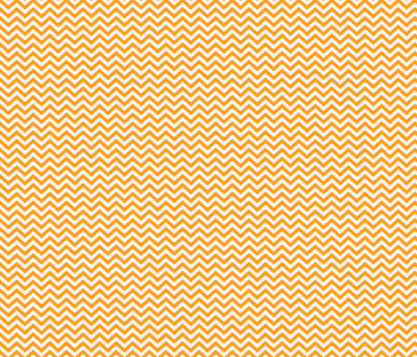 Cream & Orange Chevon fabric by allisonkreftdesigns on Spoonflower - custom fabric