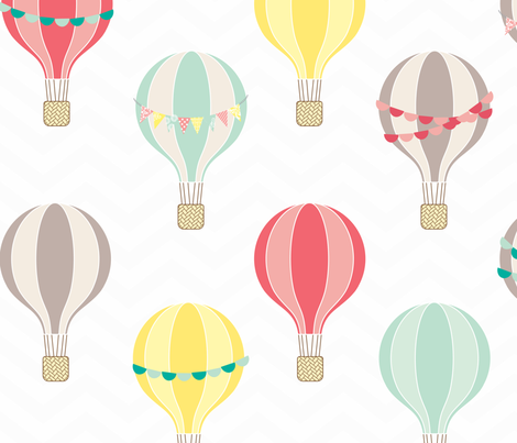 sweet hot air balloons fabric by allisonkreftdesigns on Spoonflower - custom fabric