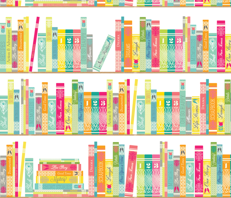 For the love of reading fabric by allisonkreftdesigns on Spoonflower - custom fabric