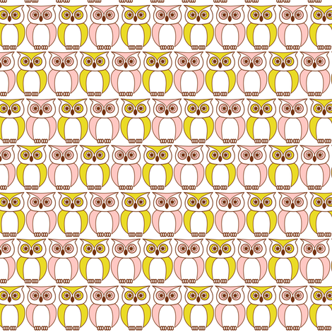 Sweet Owls fabric by allisonkreftdesigns on Spoonflower - custom fabric