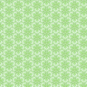 Spring greens lace on white