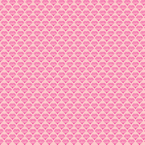 Pink Diamonds fabric by allisonkreftdesigns on Spoonflower - custom fabric
