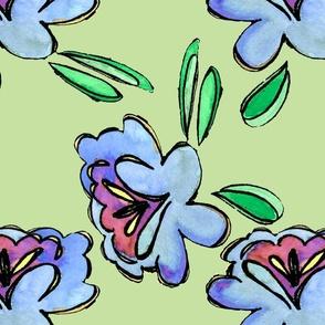 blueflowerscartoon3