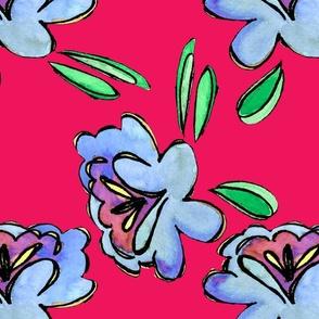 blueflowerscartoon4