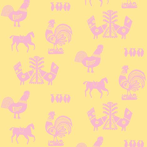 Folk Barnyard II fabric by relative_of_otis on Spoonflower - custom fabric