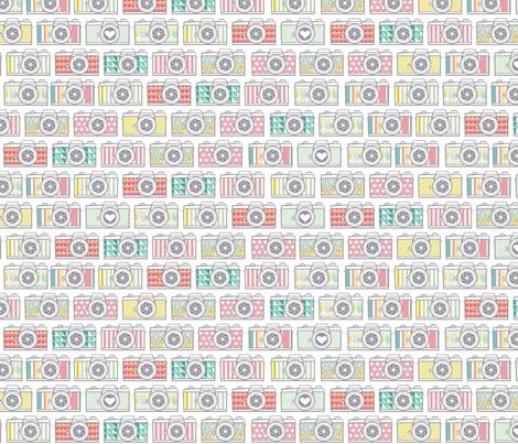 Mutli Pattern Camera Collection fabric by allisonkreftdesigns on Spoonflower - custom fabric