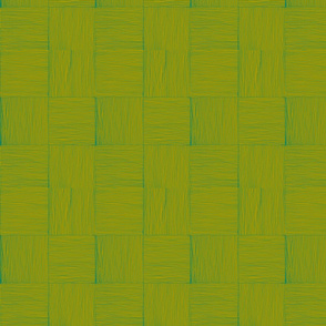 wovn lauhala mat, olive on dak green