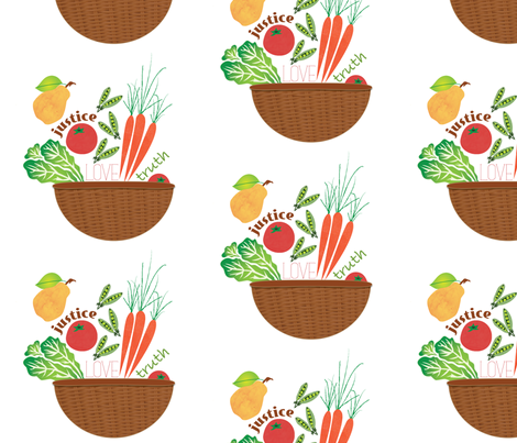 Market Basket Print fabric by stacysix on Spoonflower - custom fabric