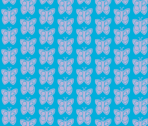Butterflies blue fabric by painter13 on Spoonflower - custom fabric