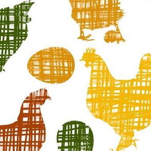 Crosshatched Chickens