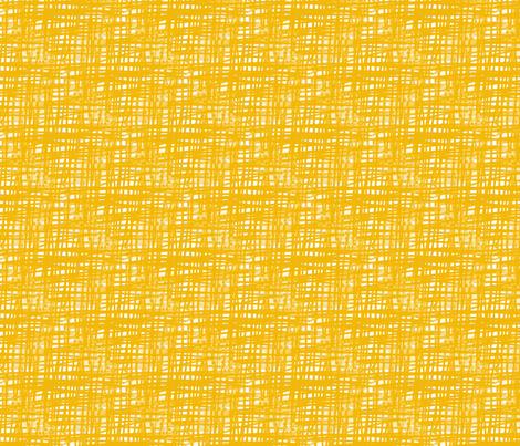 Yellow Crosshatch fabric by fussypants on Spoonflower - custom fabric